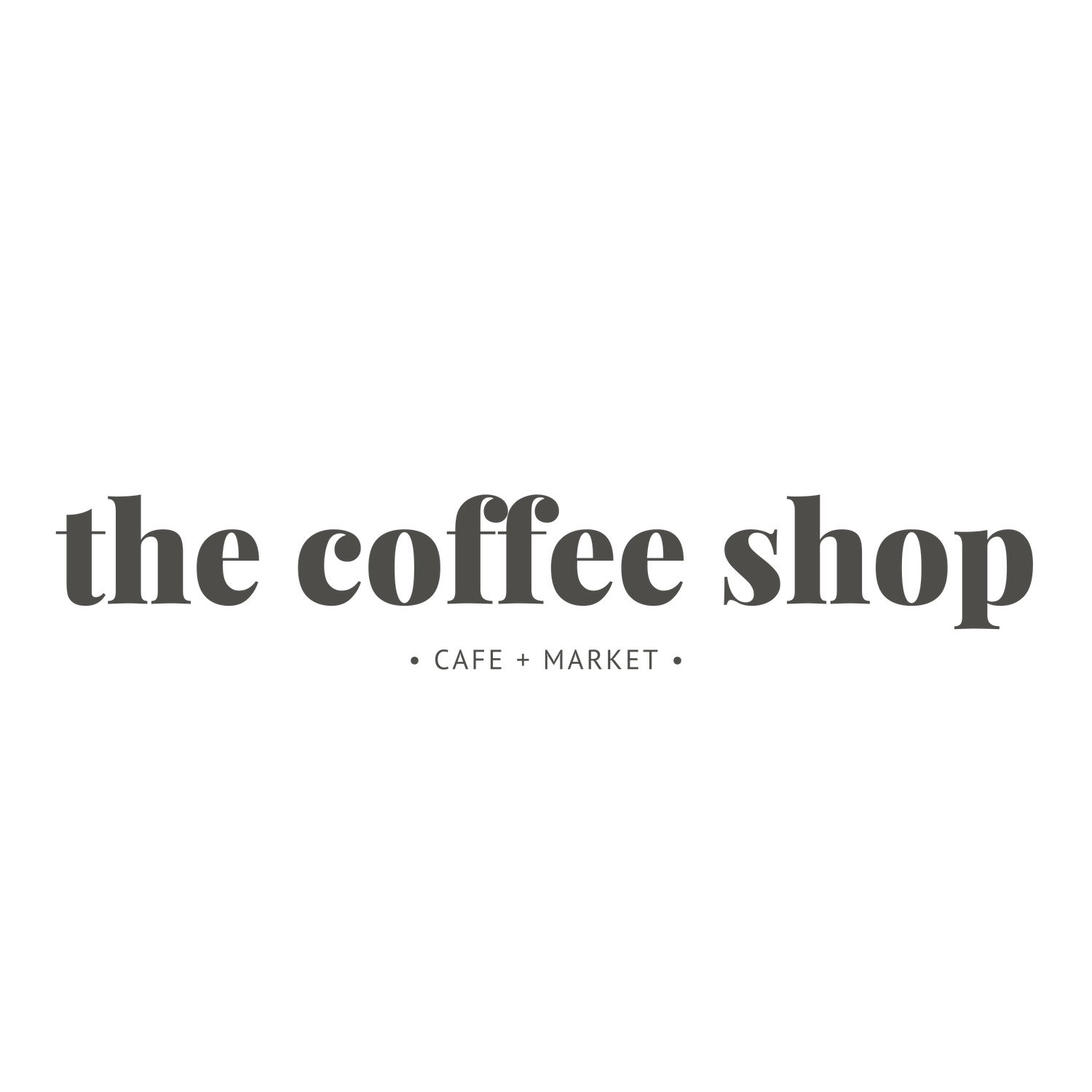 THE COFFEE SHOP LOGOTYPE AND BRANDING