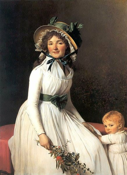 Jacques-Louis David's portrait of Mme Seriziat provided the cover image for that copy of Emma. The baby was excised.