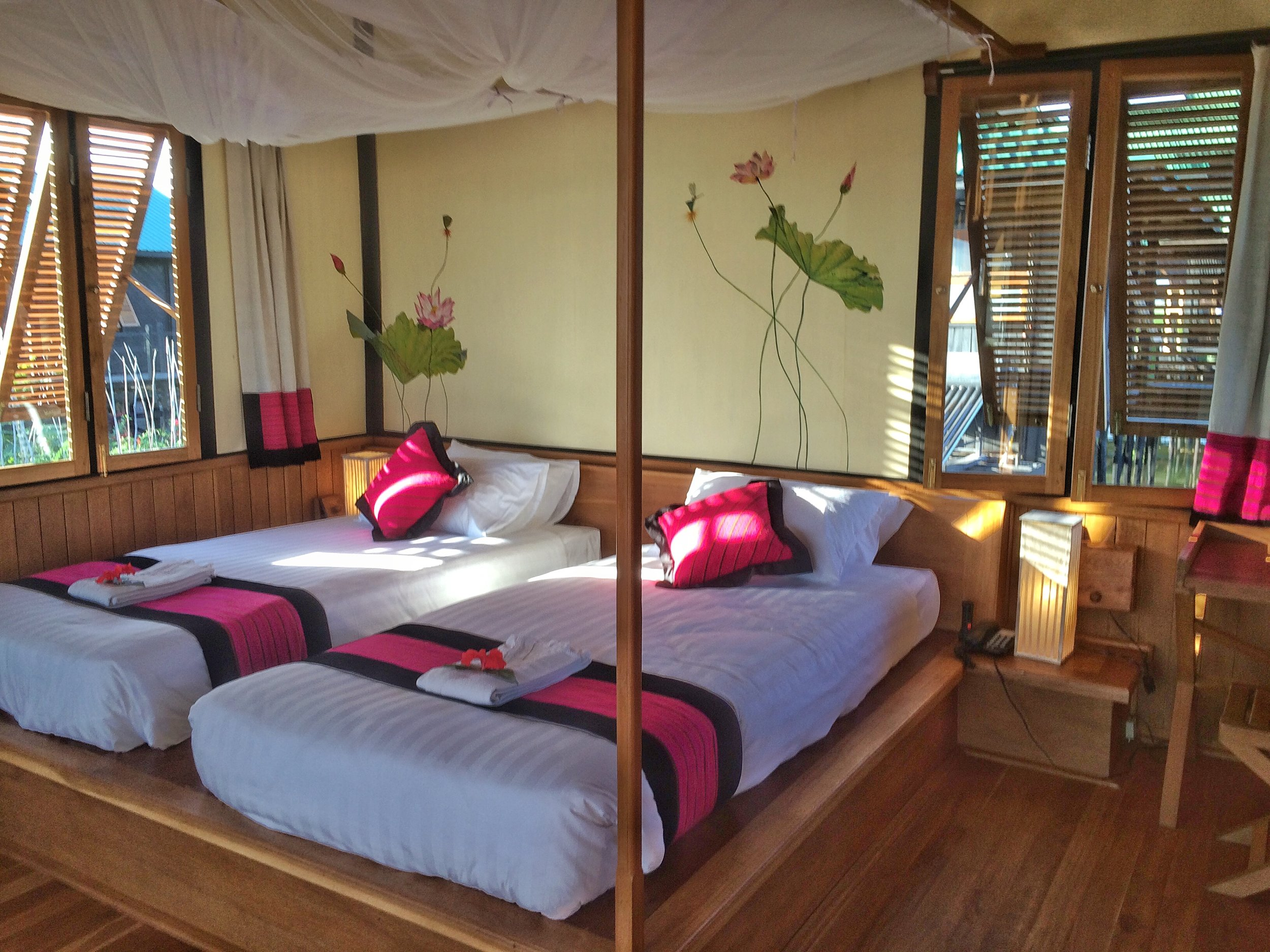 Chalet at the Thahara Inle Heritage hotel.