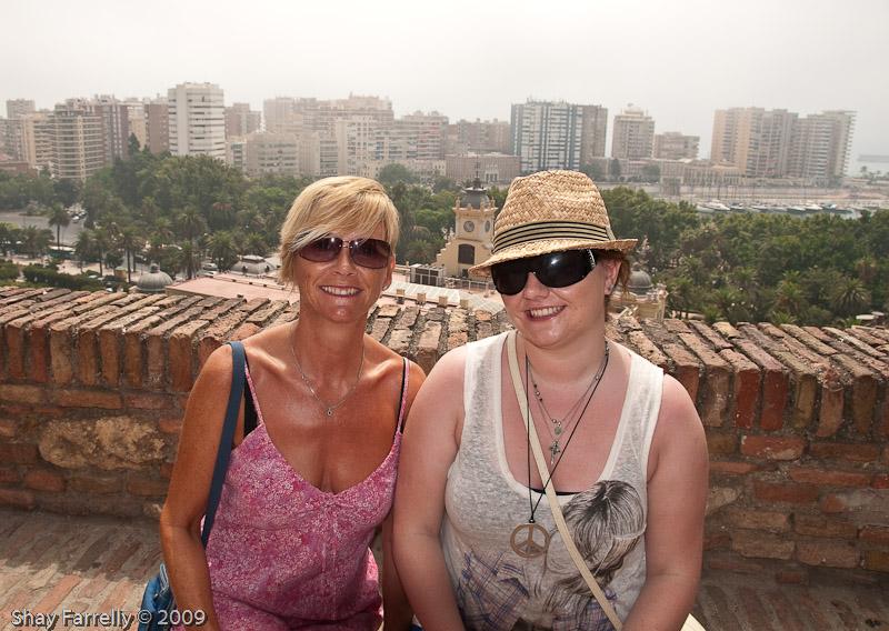 Sharon and Aislinn at the Alcazaba Malaga