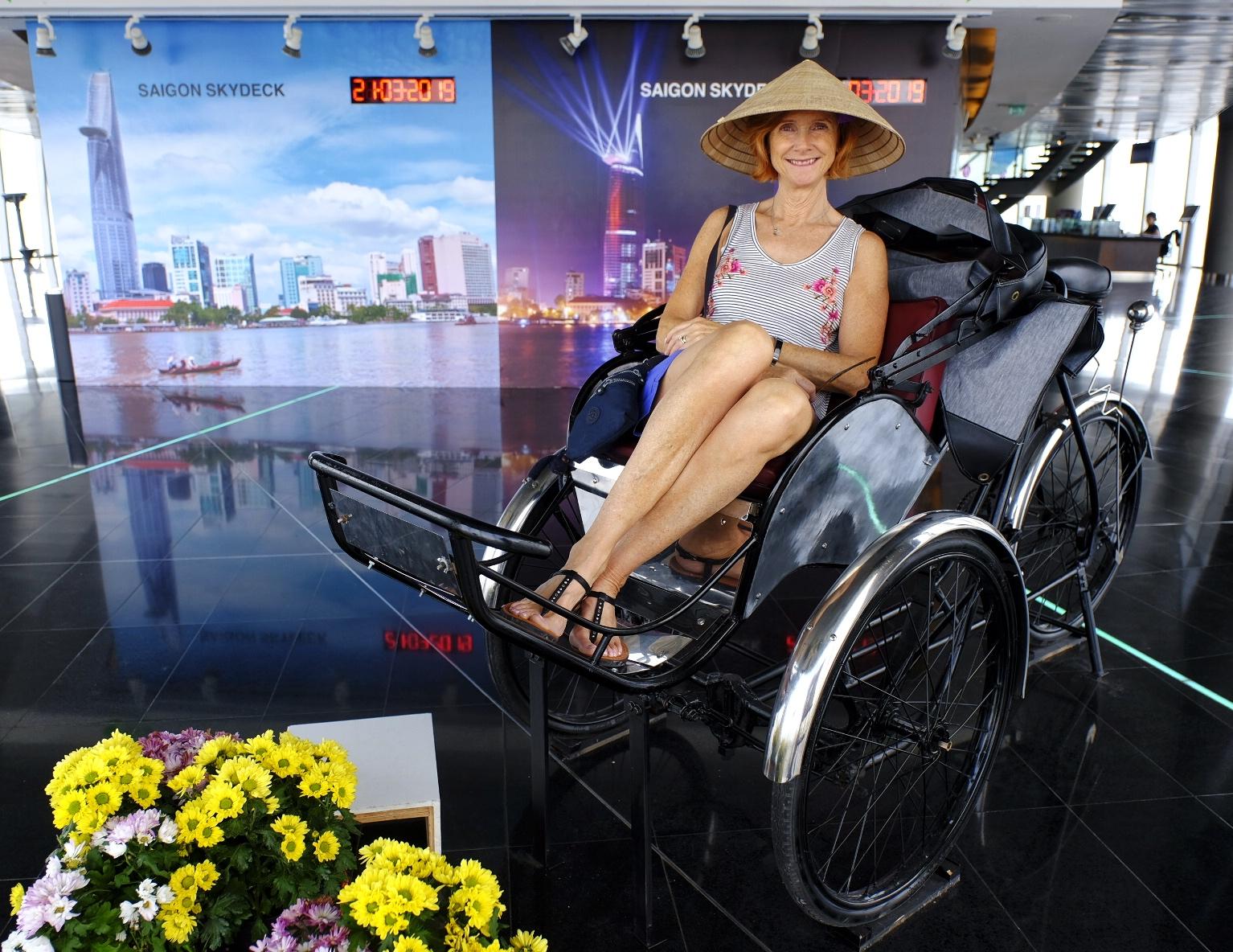 Sharon In Bitexco building HCMC