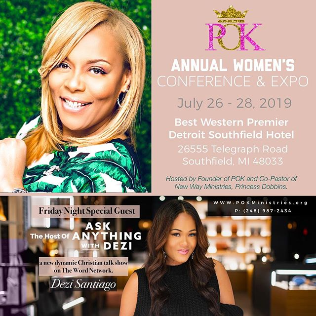 The POK conference is just around the corner! Join us this weekend for dynamic messages from both of our Co-Executive Producers, @Dezi_S and @KelliMColeman! But your tickets at the link in our bio!