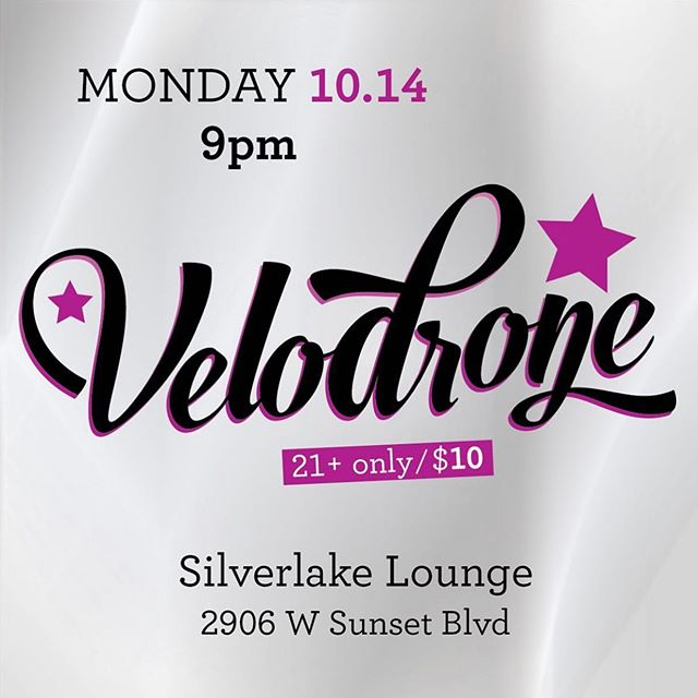 My new band, VELODRONE, plays the Silverlake Lounge this Monday night. Which means you can see my Silverlake Lounge premiere performance on Monday night. Get your 90s indie rock fix as I play drums behind two rockin' soccer moms!  #silverlakelounge #newband #shoegaze #90sindierock #soccermoms #drumming