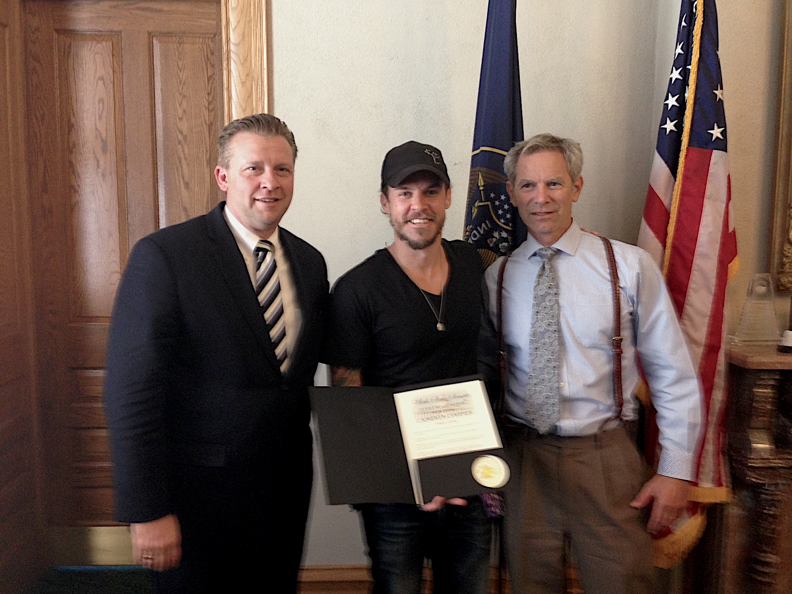 """focus on what you are doing, and do not worry about the results."" - Receiving a ""Letter Of Recognition"" from Mayor Ralph Becker of Salt Lake City, Utah in 2013."