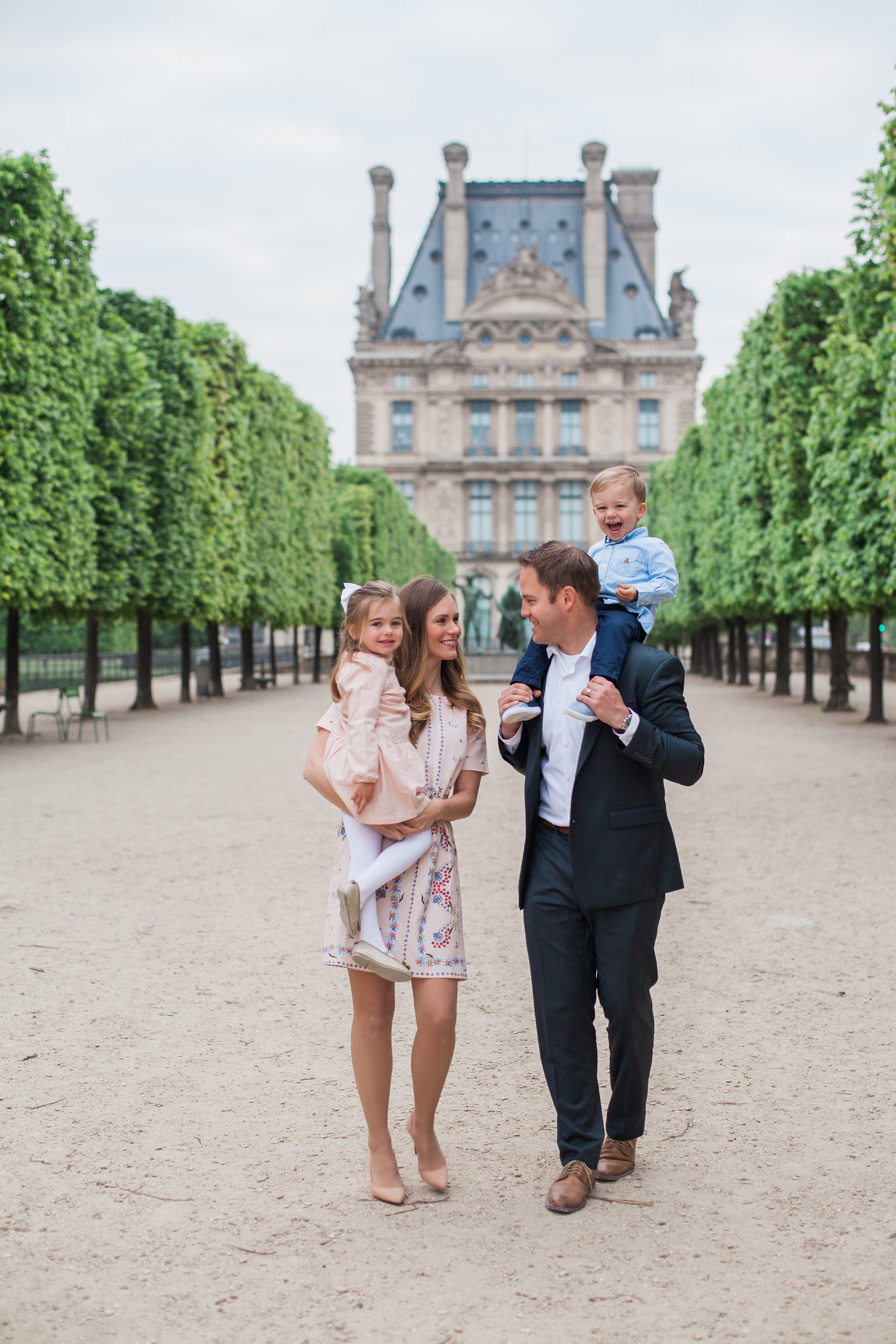 The BEST souvenir! Family Photos in the Tuileries Garden in Paris, France. Photo by  Michelle Wever Photography .