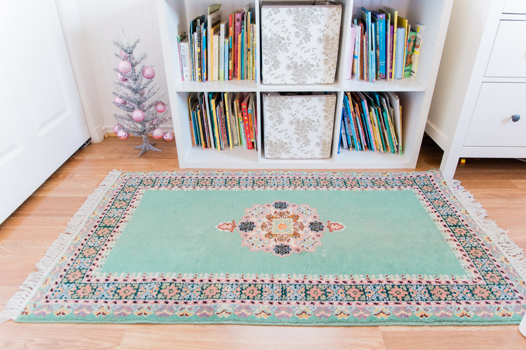 Moroccan rug from Fez. This is a sentimental souvenir for me because I bought it for my daughter while I was pregnant.