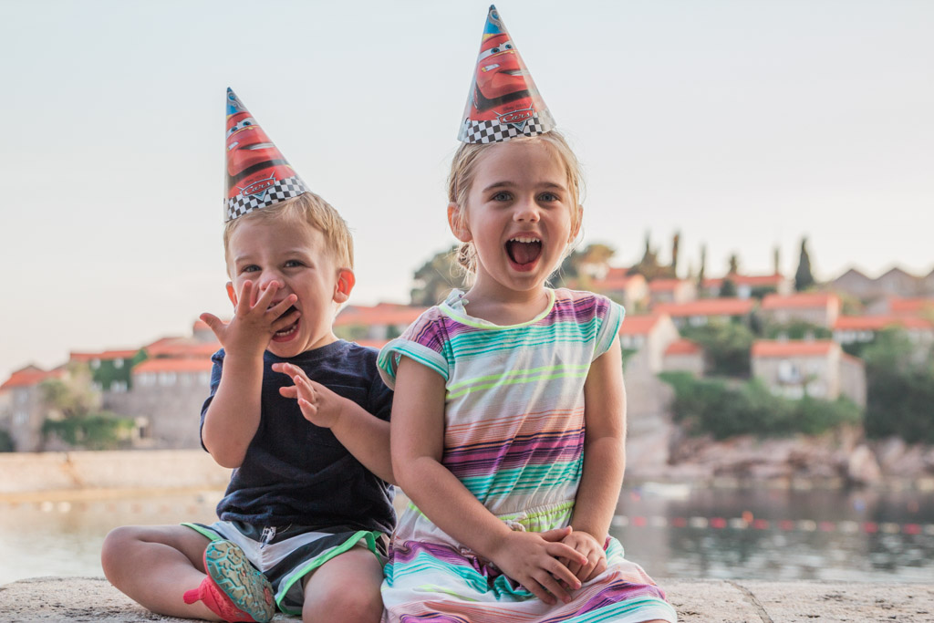 What better place to celebrate your 2nd birthday than in Sveti Stefan, Montenegro?!