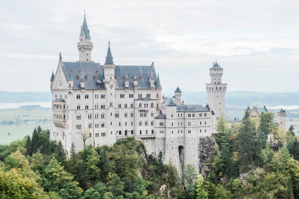 Germany's Neuschwanstein Castle as seen from Marienbrucke.