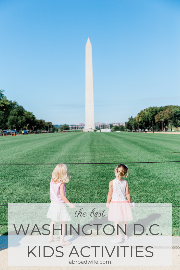 The Best Washington D.C. Kids Activities! Kids! What to do in Washington D.C. with kids as written by a local, including day trips to Virginia & Maryland. Read more at abroadwife.com #washingtondc #washingtondckids #thingstododc