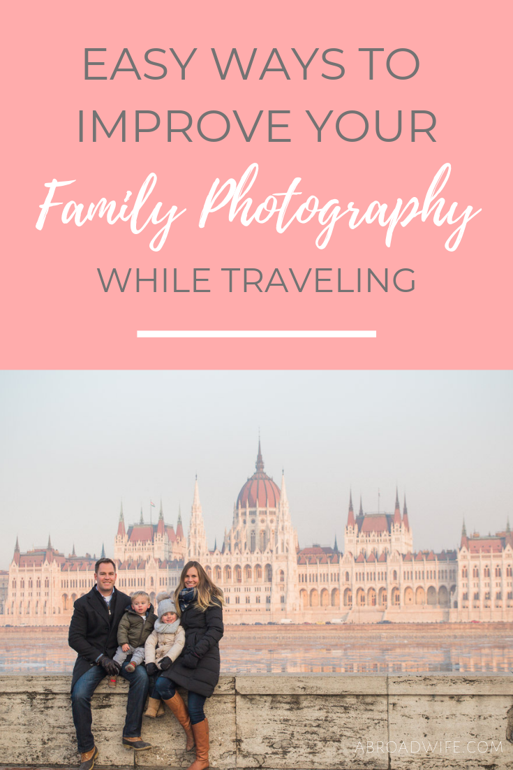 EASY WAYS TO IMPROVE YOUR.pngEasy ways to improve your family photos while traveling. Tips and strategies to help you get the best possible pictures of your family while on vacation. These tips can be used with any type of camera! #familyphotography #travelphotography #familytravel #travelwithkids