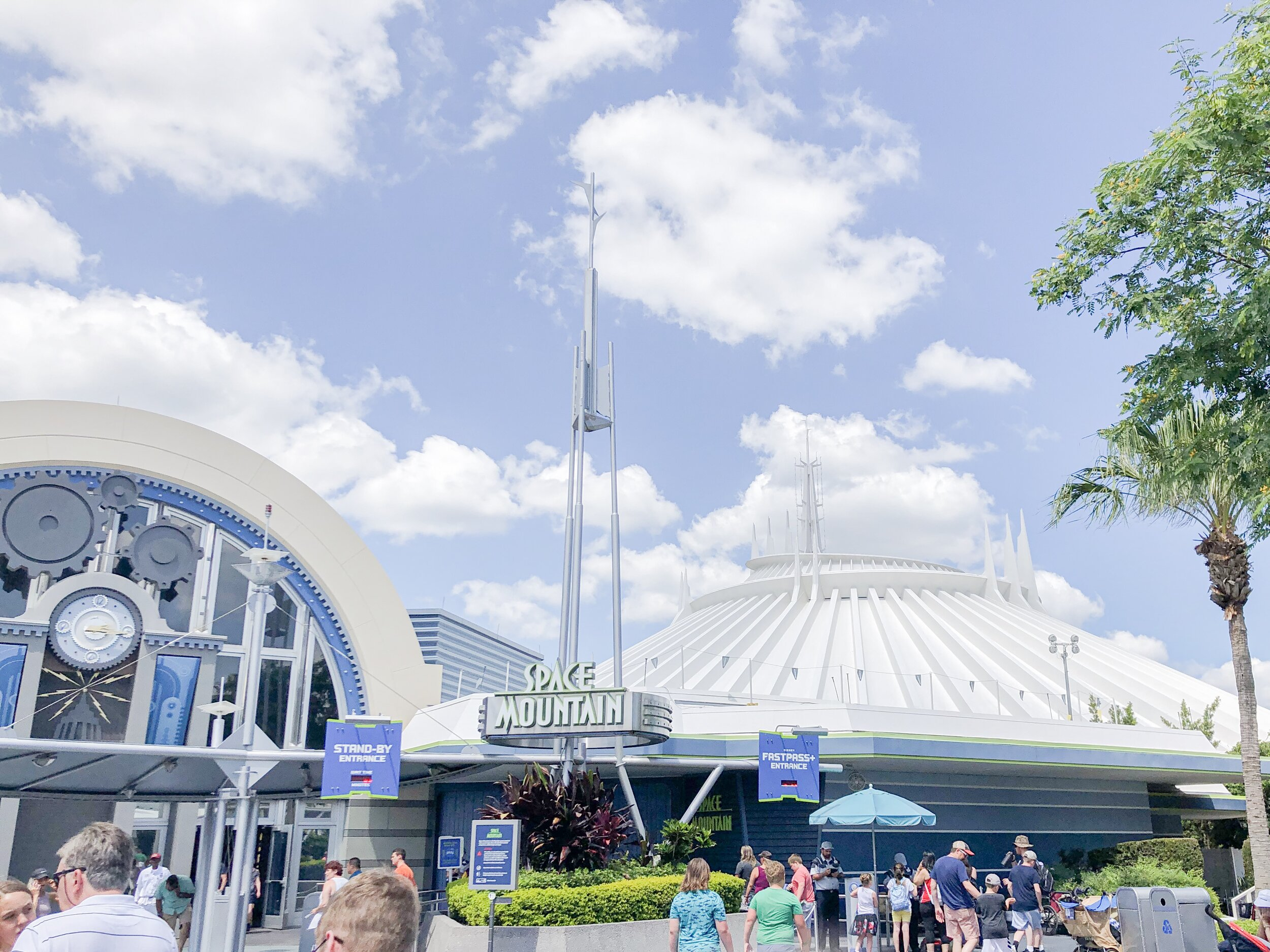 Space Mountain roller coaster building at Disney World.