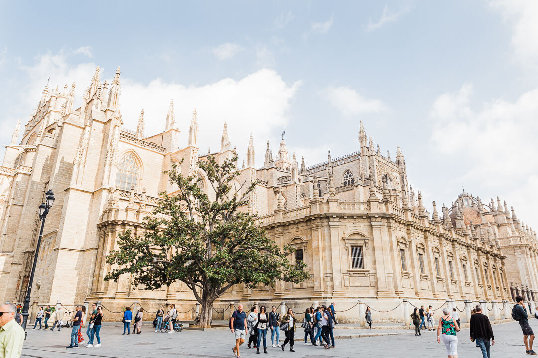 Outside view of the Cathedral of Seville.