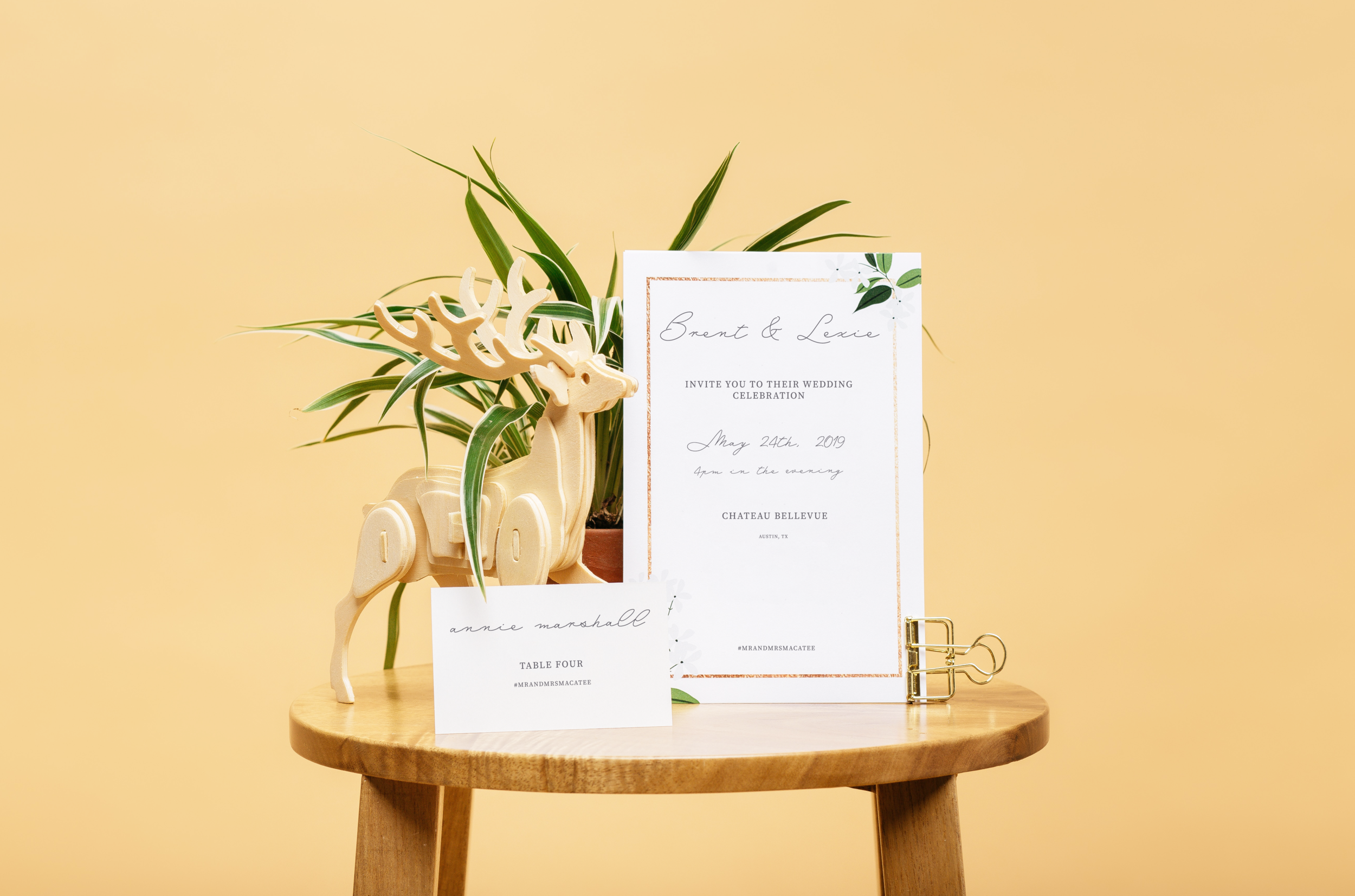 Invitation/Table Placement Card Design, 2019