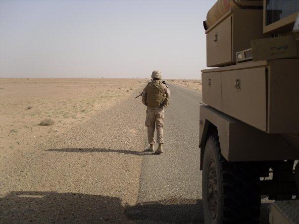 Dan - Iraq - lonely convoyer.jpg