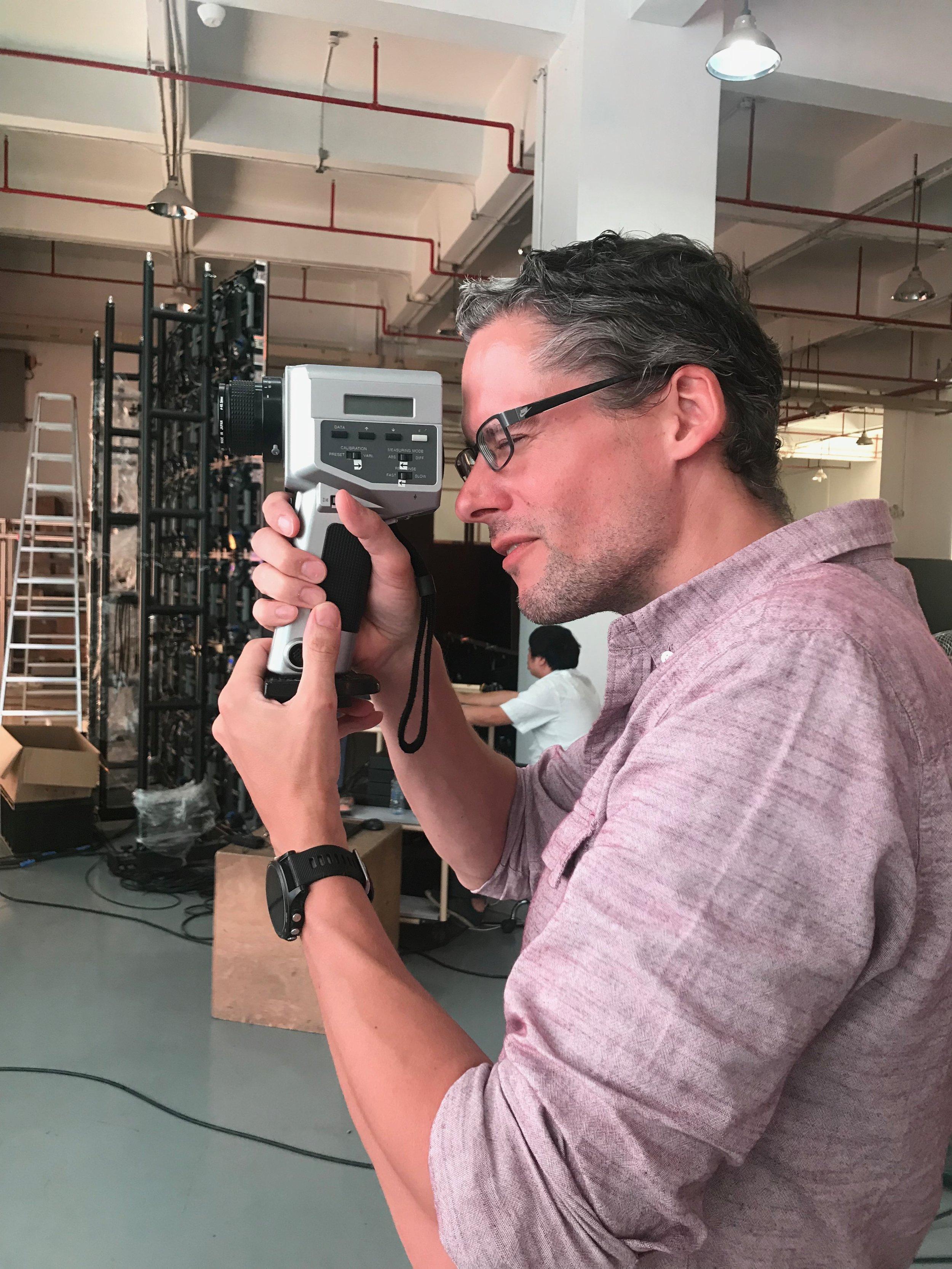 David calbrating close up.jpg