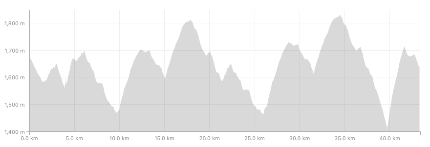 The profile on the 42km Beast of Shivapuri Course