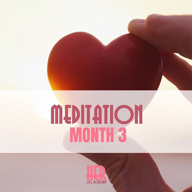 This months @herlifeacademy mediation is all about radiating LOVE. Tune in everyday and carry the feeling with you. ❤️ Sign up for membership via link in the profile ⬆️⬆️