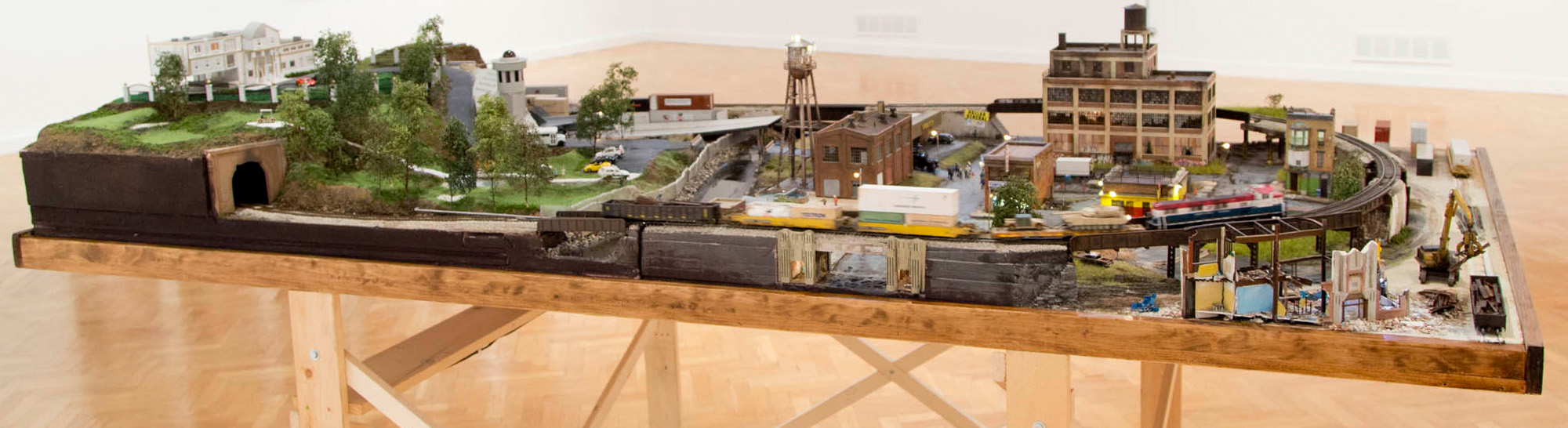 Model War Economy, First World, installation view. 4 x 8 x 2 ft.
