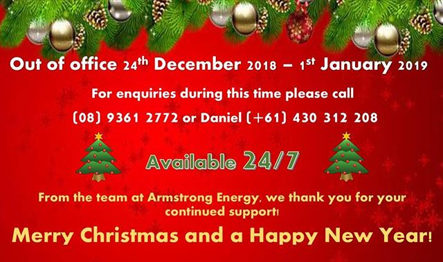 MERRY CHRISTMAS ALL! 🎄🎅🏼🎄🎅🏼🎄Open 24/7 during the Xmas period for enquiries! 📞 (08) 9361 2772 or 0430 312 208. . . . #merrychristmas #24/7 #armstrongenergy #powergeneration #oilandgas #wineries #breweries #mining #offshore #seals #bottlingcomponents