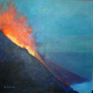 Volcano 24x24 in.