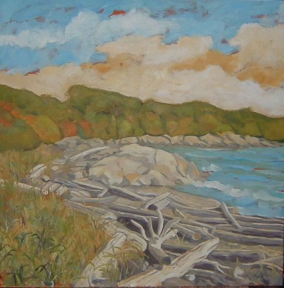 Logs at Willows Beach 30x30 in.