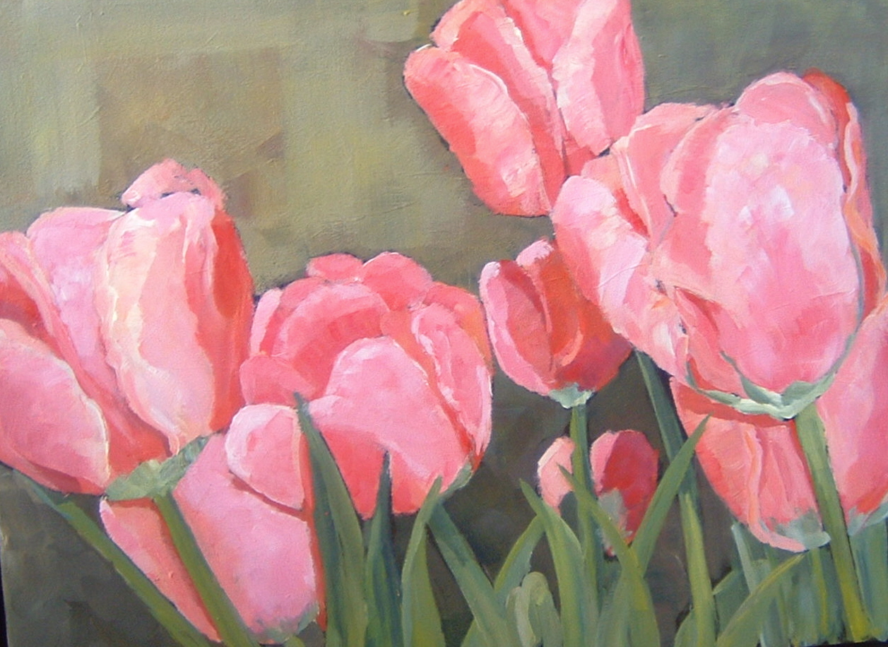 Marching Tulips 16x20 in.