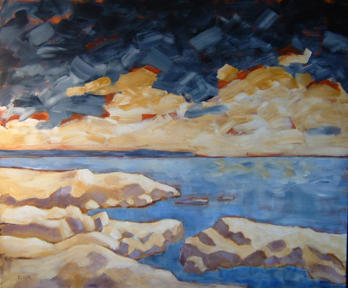 Storm Over Cattle Point 30x36 in.