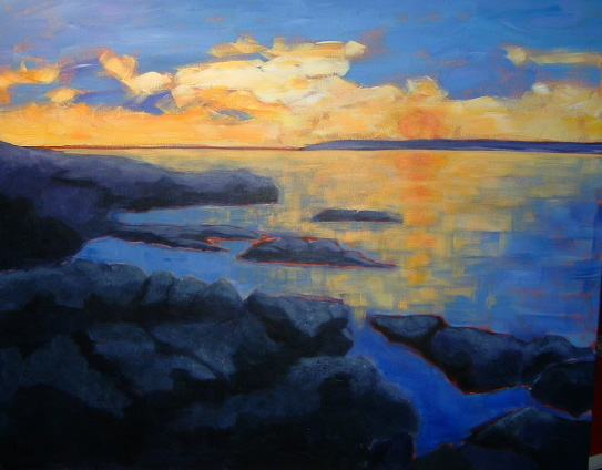 Winter Sunrise at Cattle Point 24x30 in.