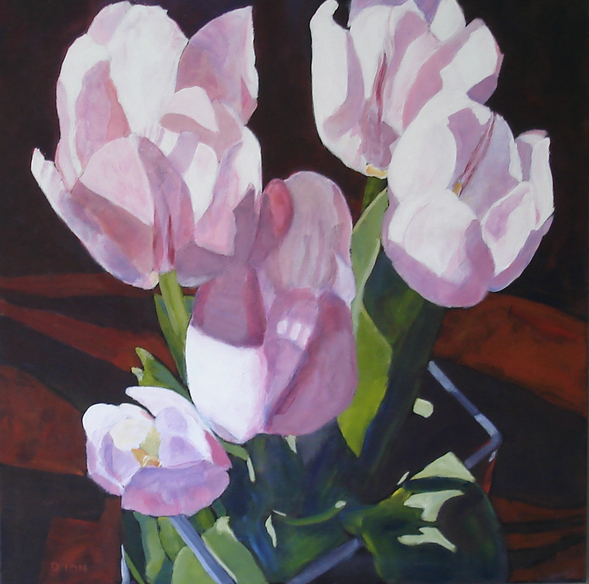 Sun Drenched Tulips  30x30 in.