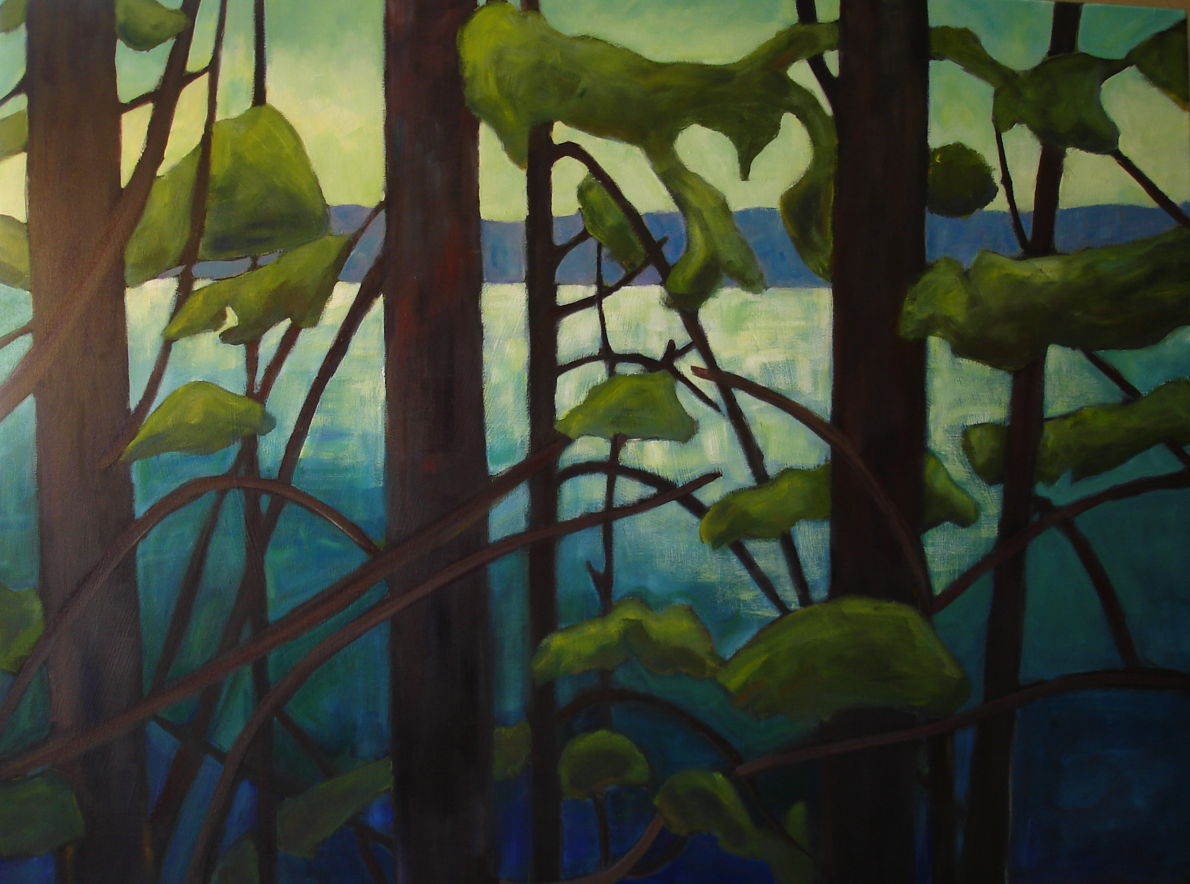 Edge of the Rainforest 30x40 in.