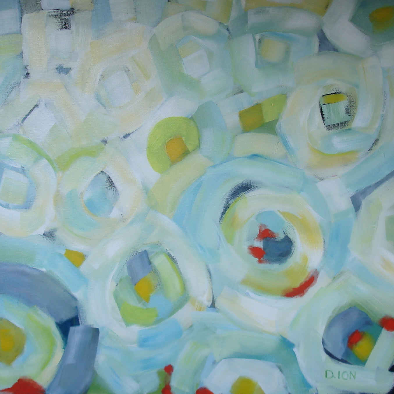 Circles 5 24x24 inches