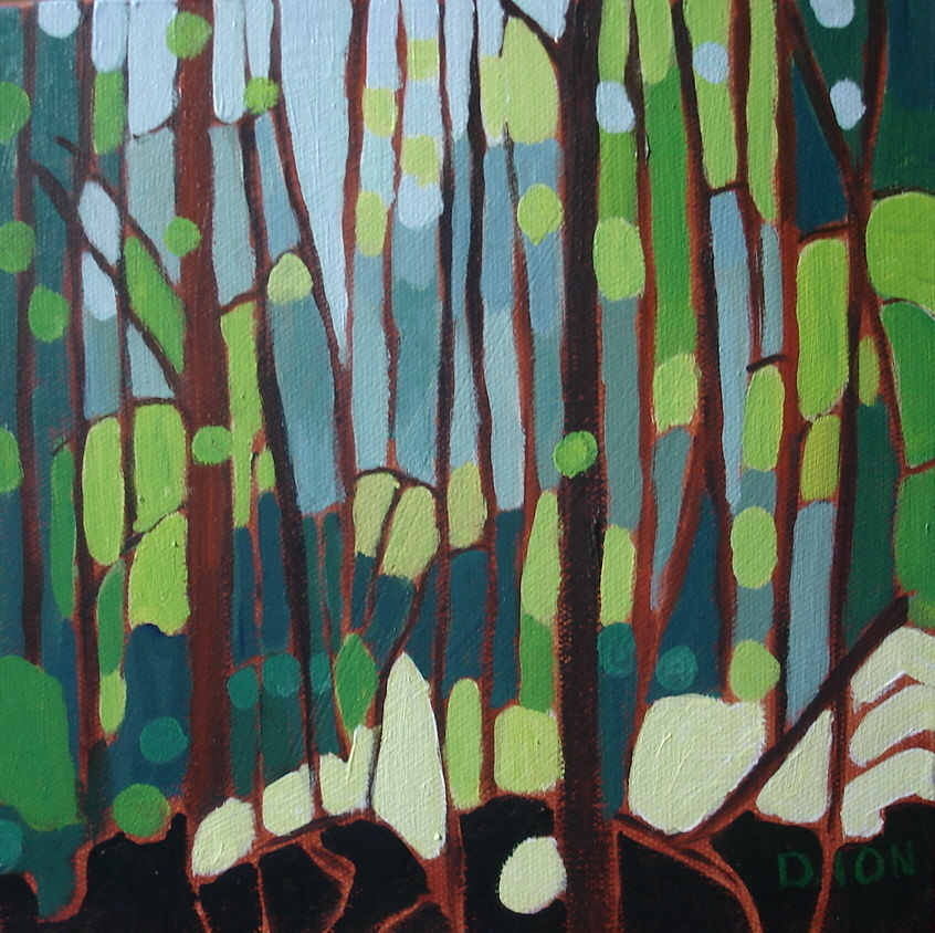 Forest Interior 8x8 in.