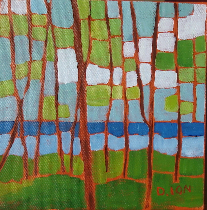 Down by the Water 8x8 in.