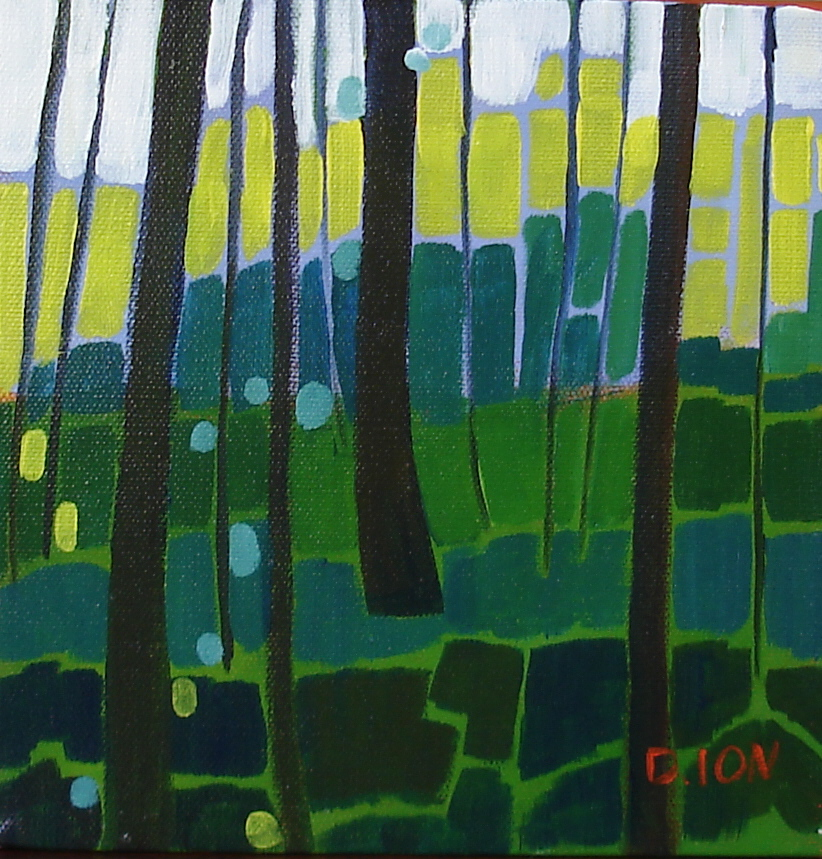 Forest Series #6 8x8 in.