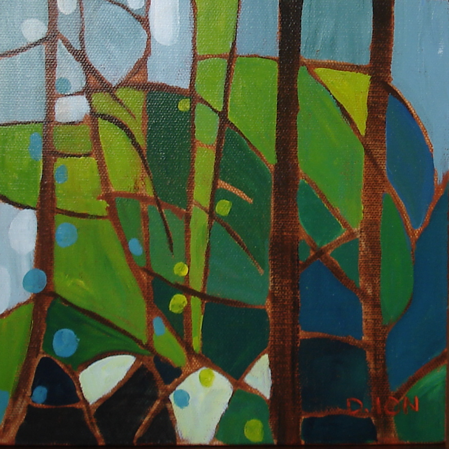 Forest Series #4 8x8 in.