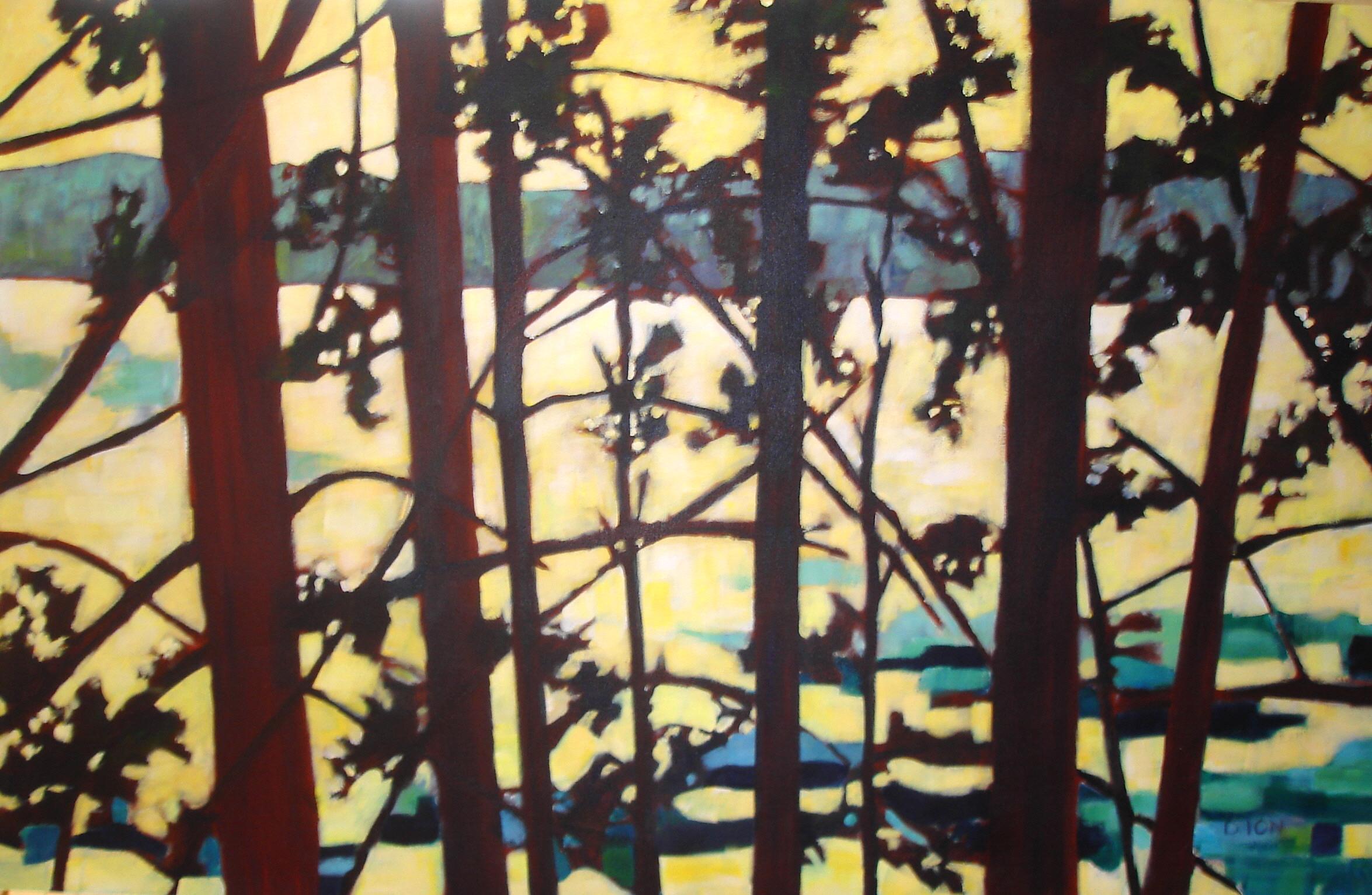 Sunlit Tapestry 31x49 in.