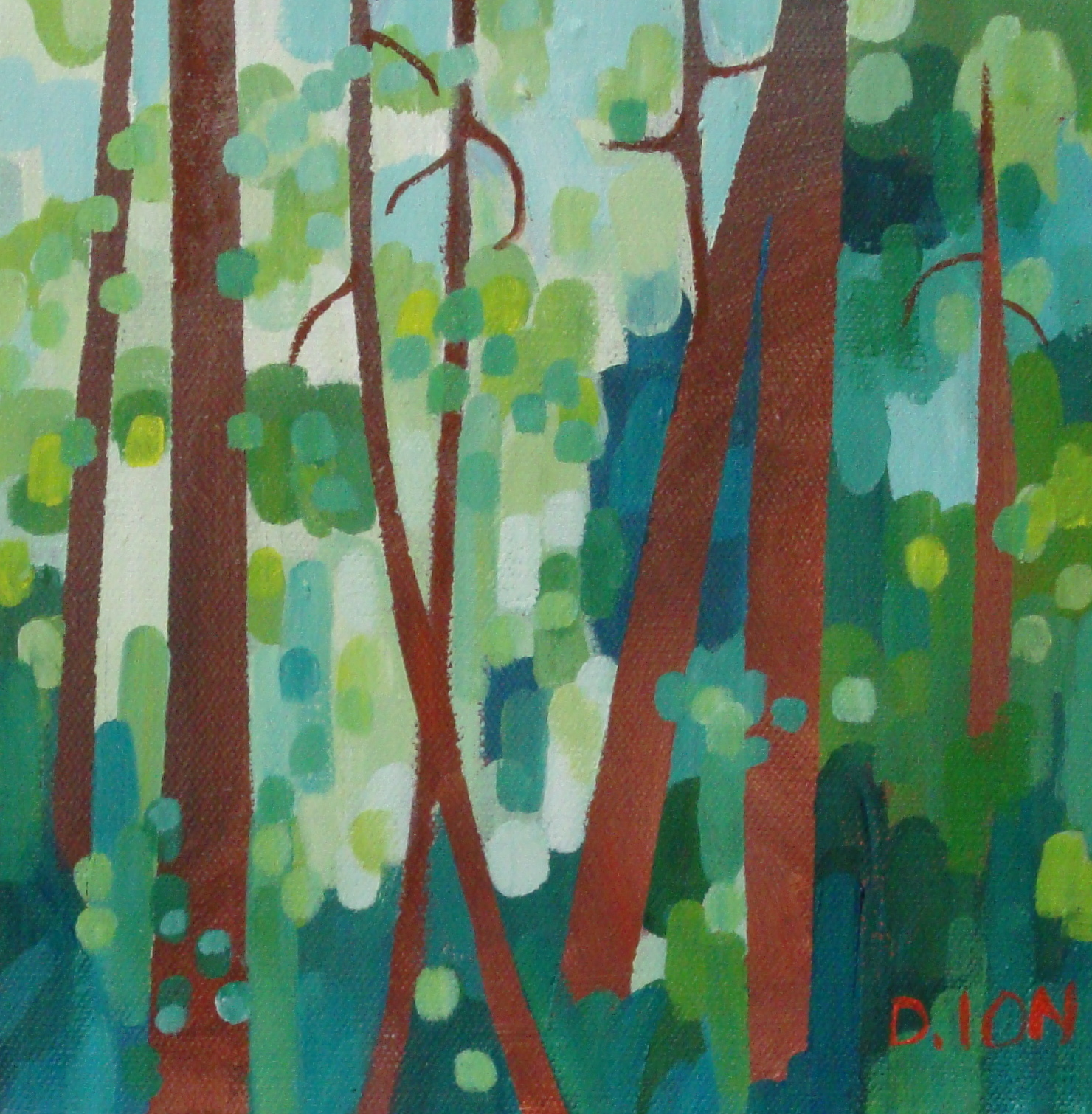 Forest Series # 10  8x8 in.
