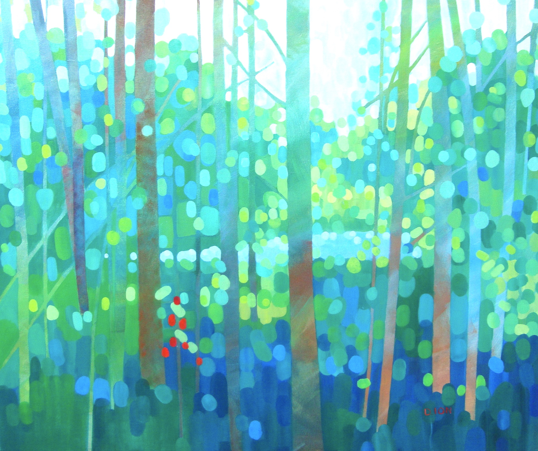 The Lake in the Forest 30x36 in.