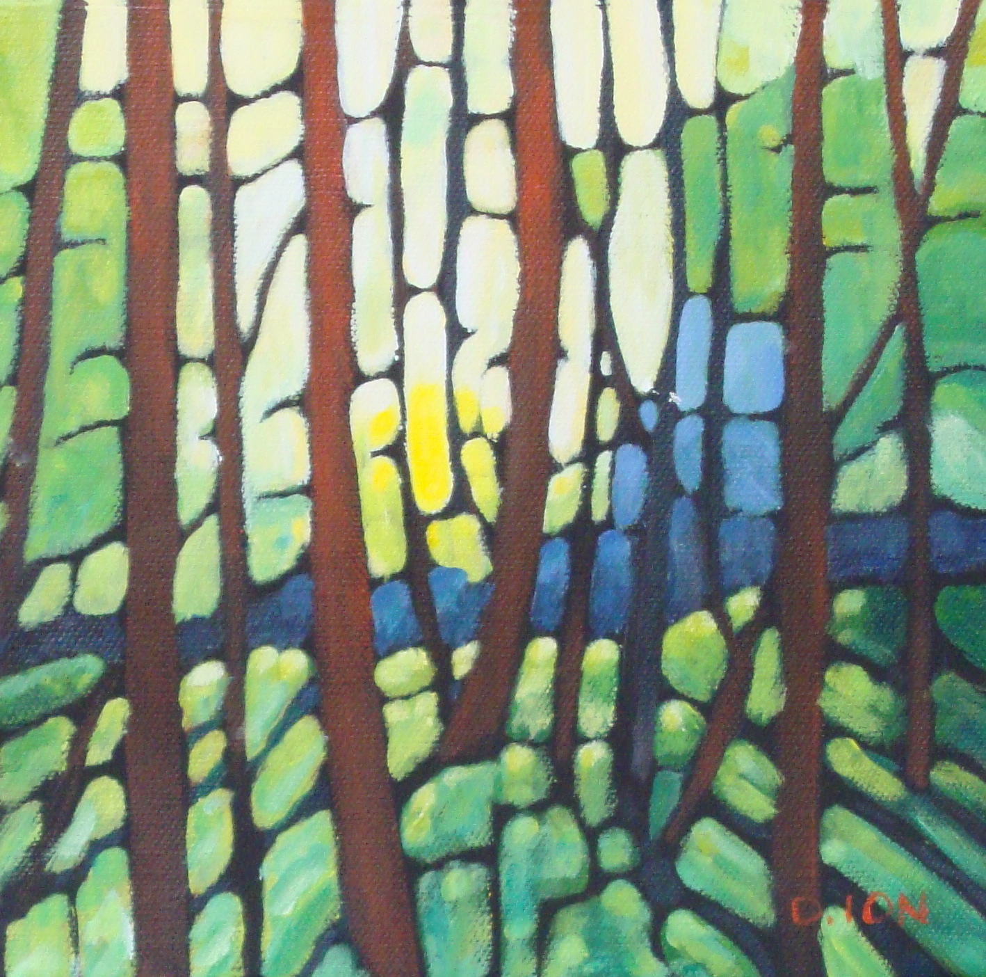 Forest Series # 9  8x8 in.