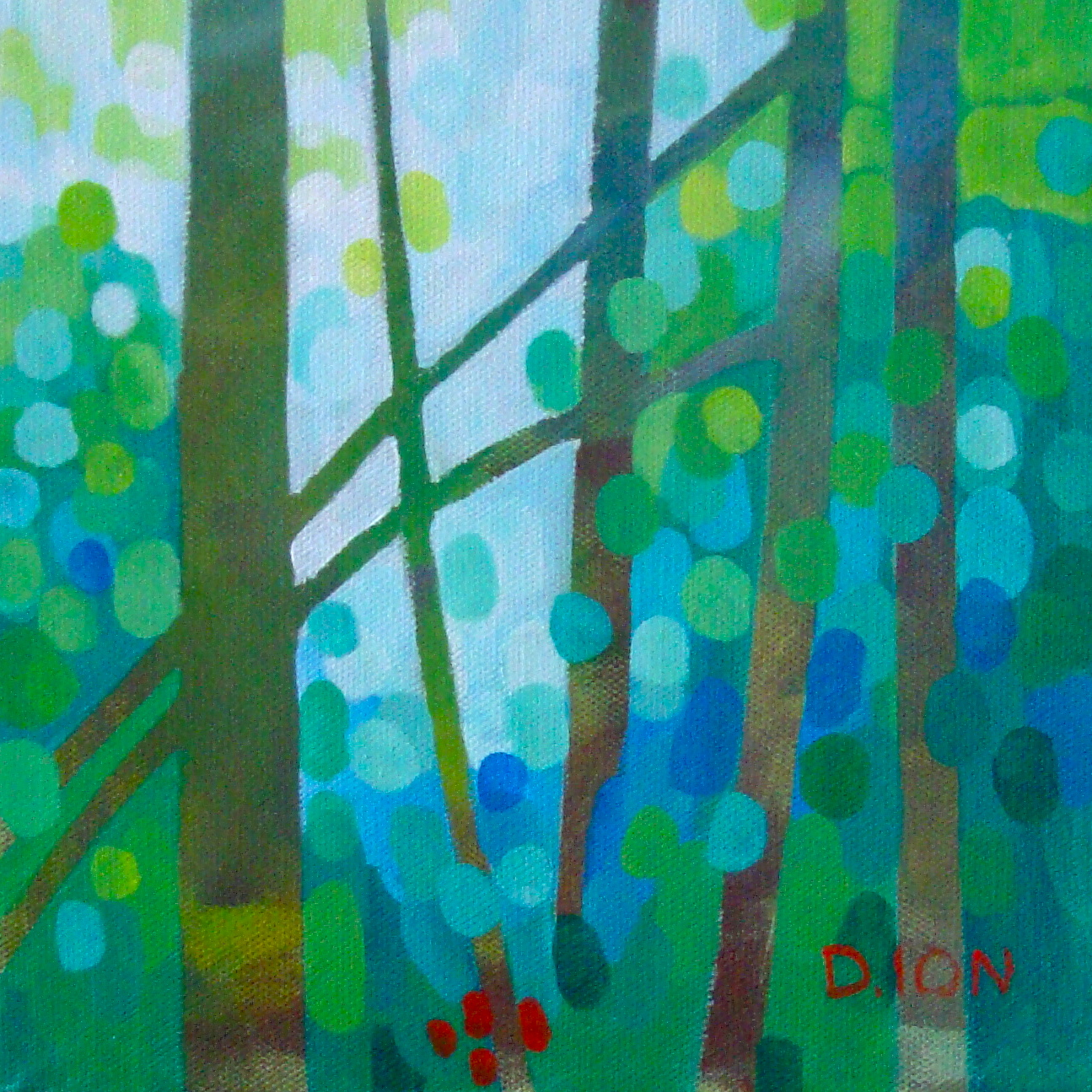 Forest Mosaic 2 8x8 in.