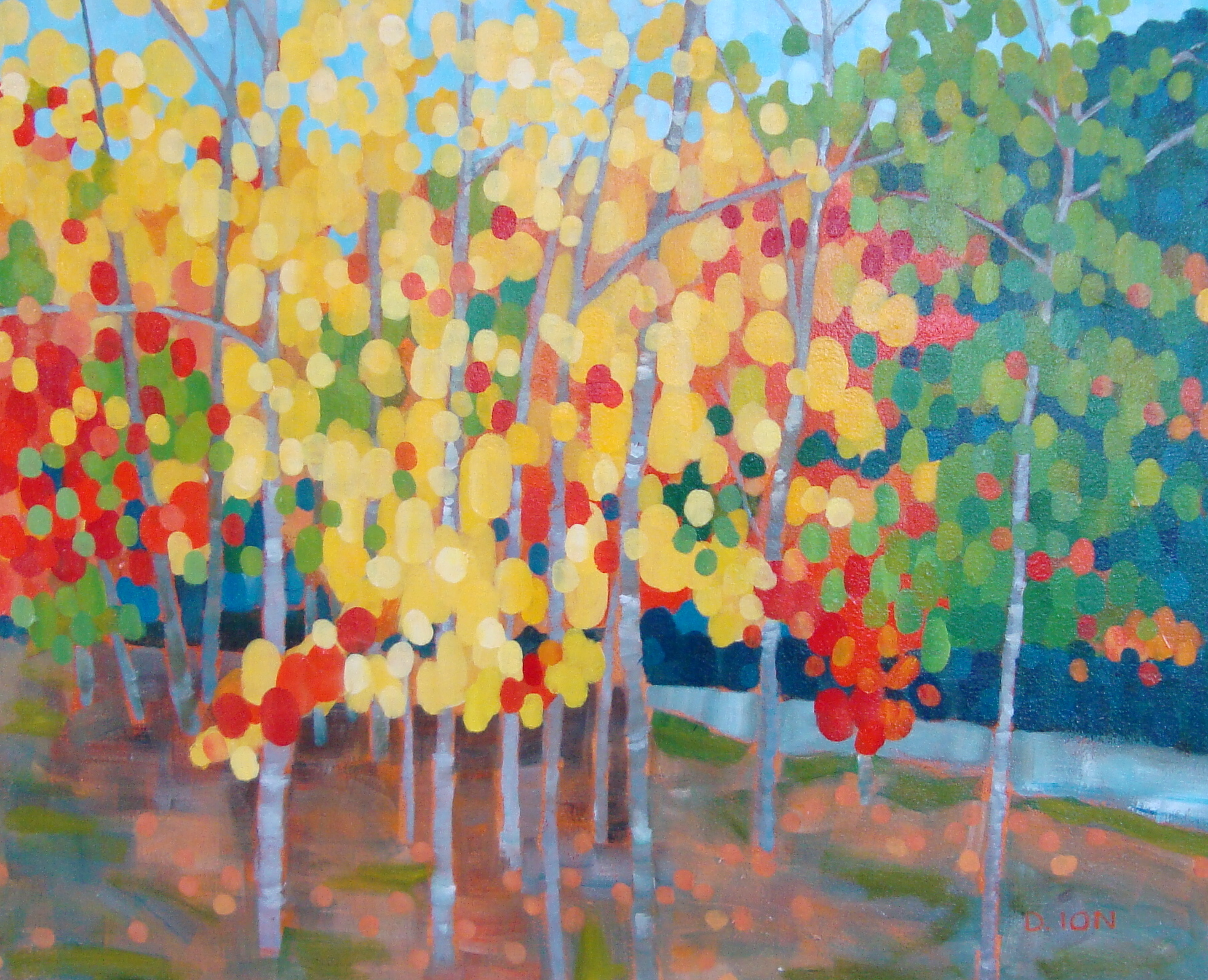 October Forest 24x30 in.