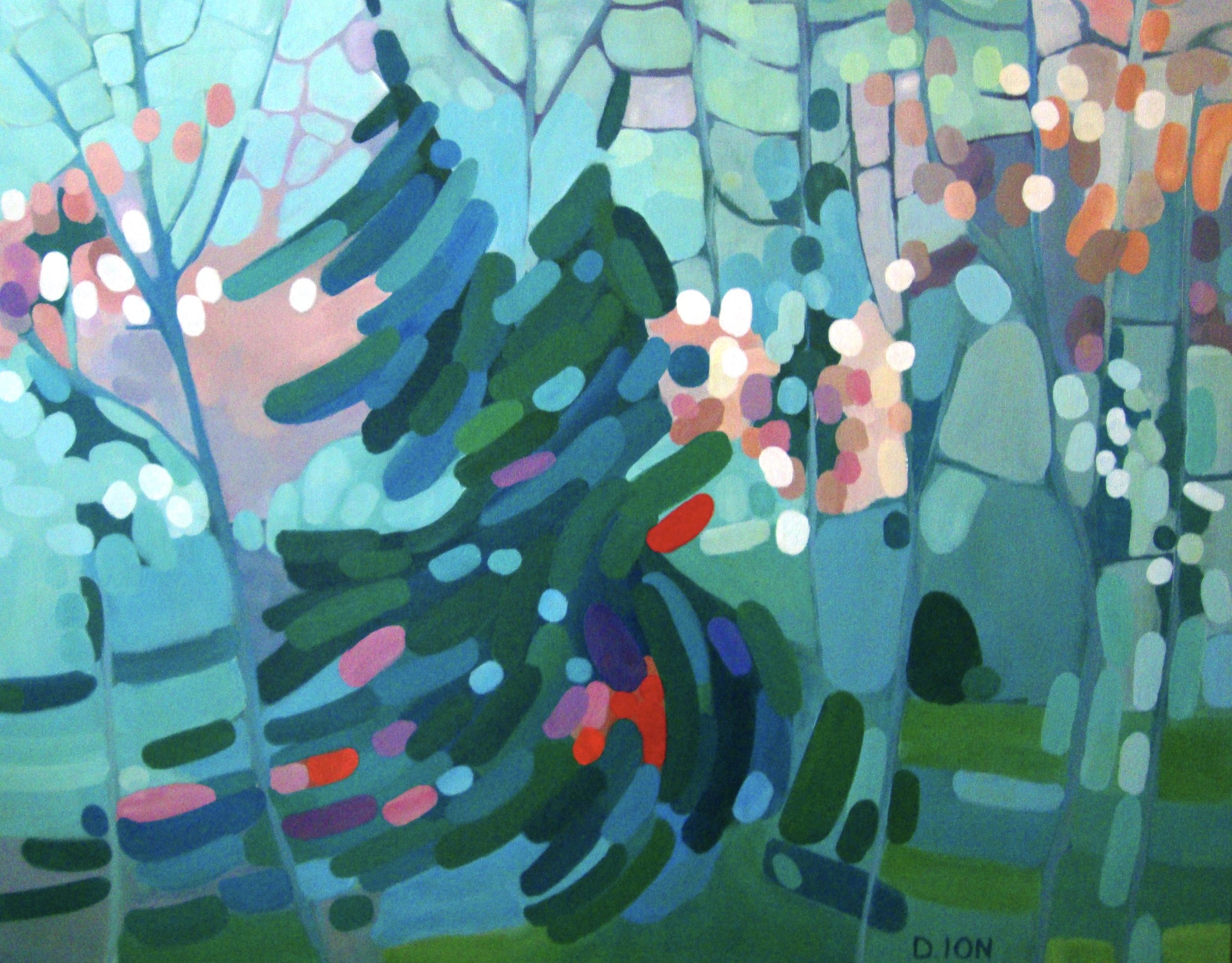 A Forest Gathering 24x30 in.