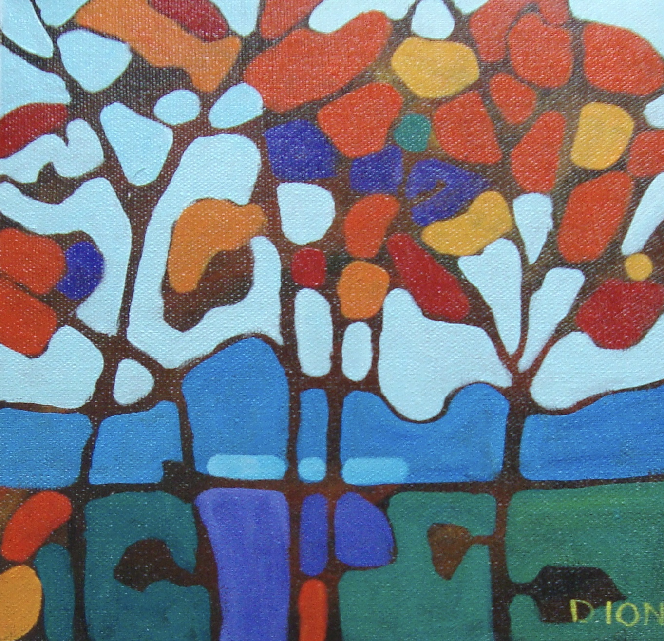 Trees 5   8x8  in.