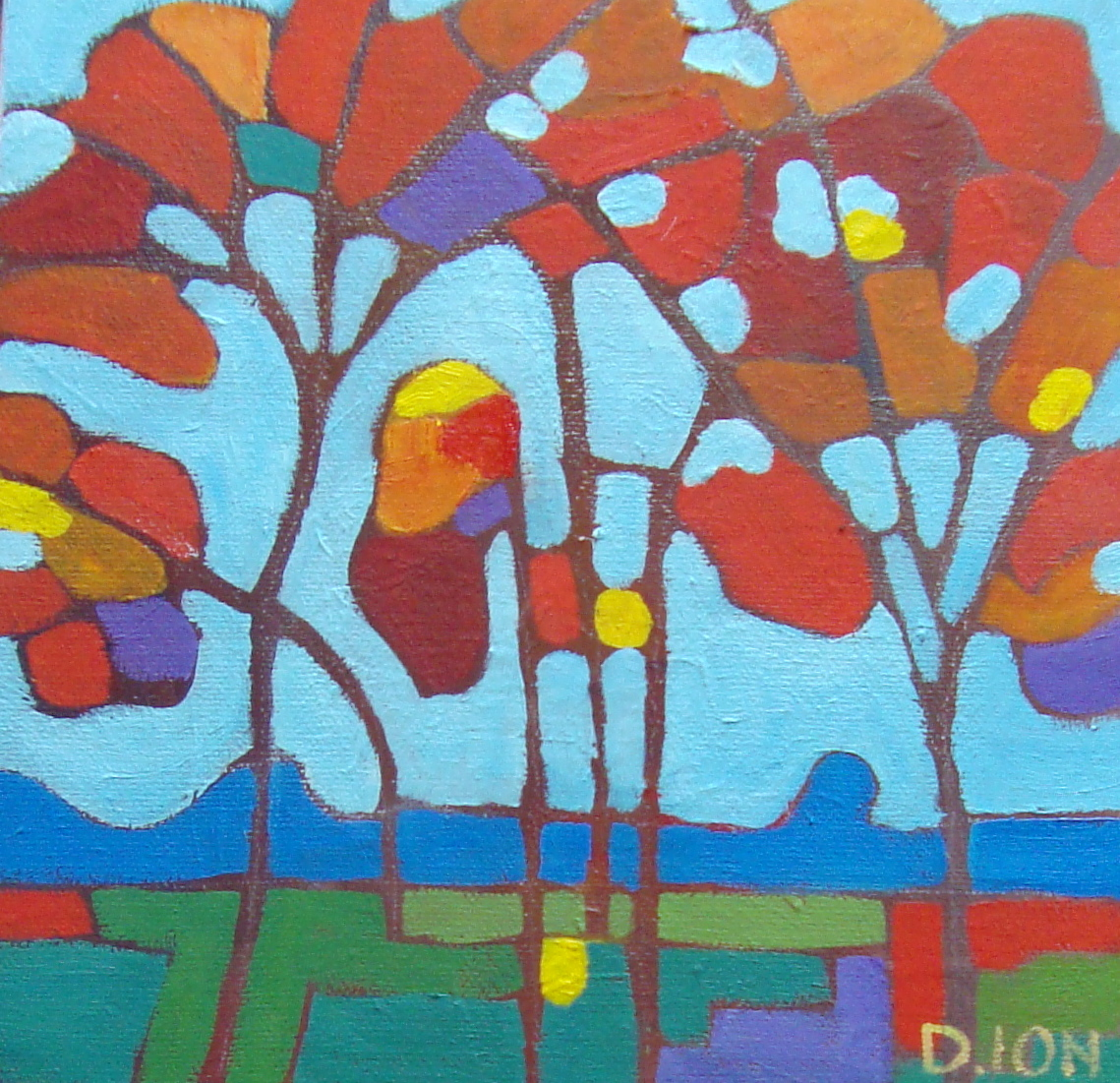 Trees 2  8x8 in.