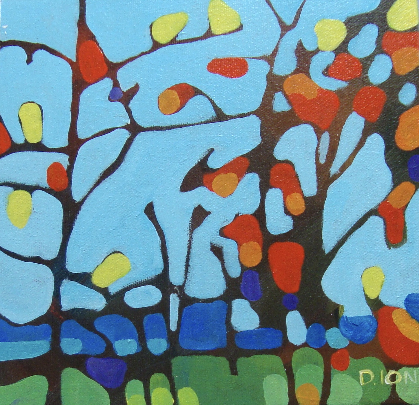Trees 7   8x8 in.