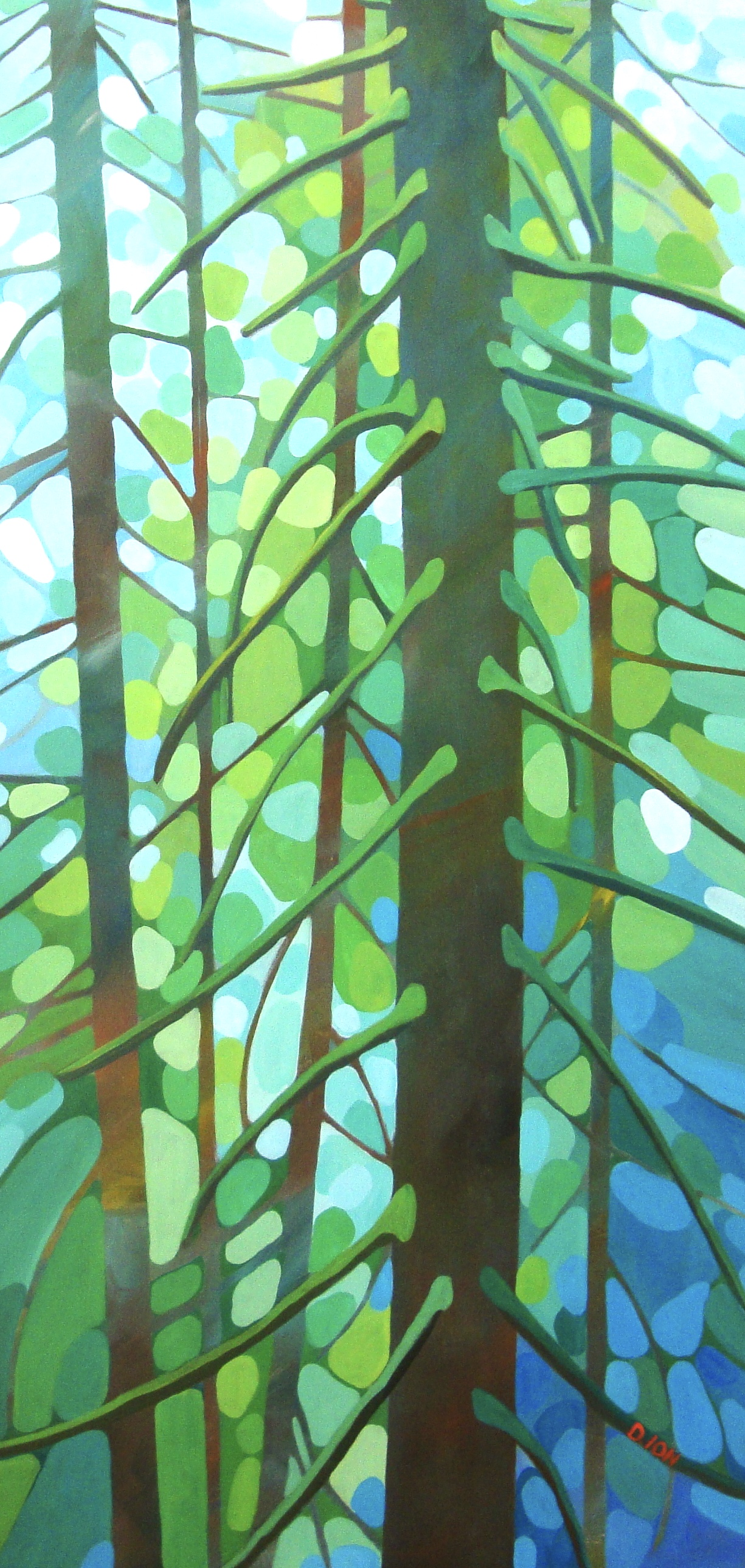 In the Rainforest 24x48 in.
