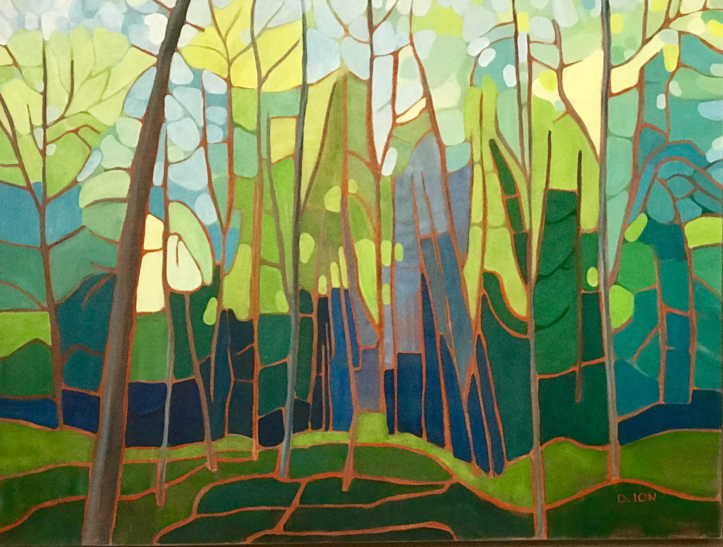 Emily's Forest 1 30x40 in.
