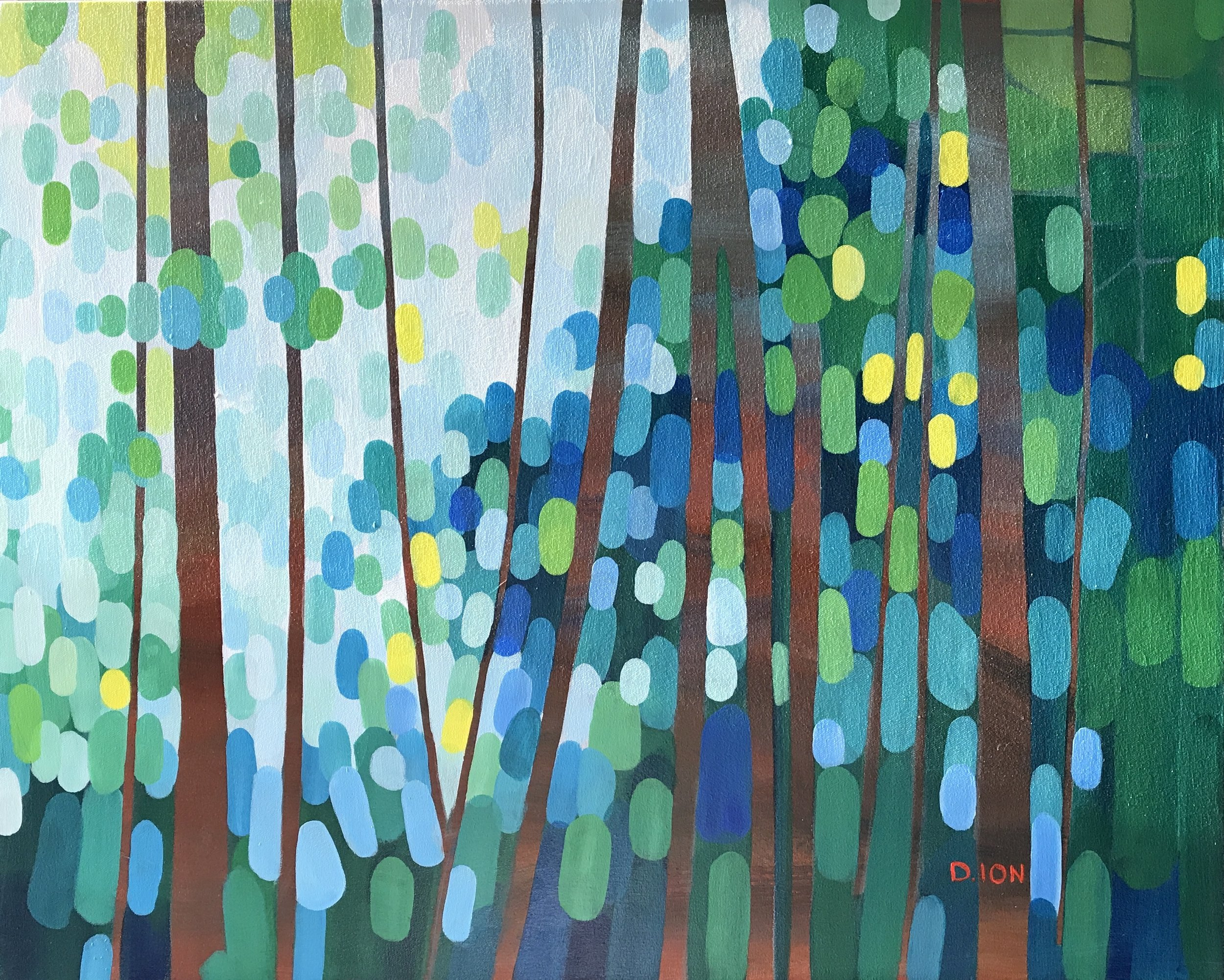 Forest Morning #1 24x30 in.