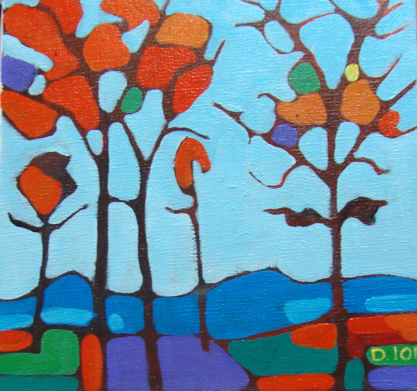 Trees 4   8x8 in.