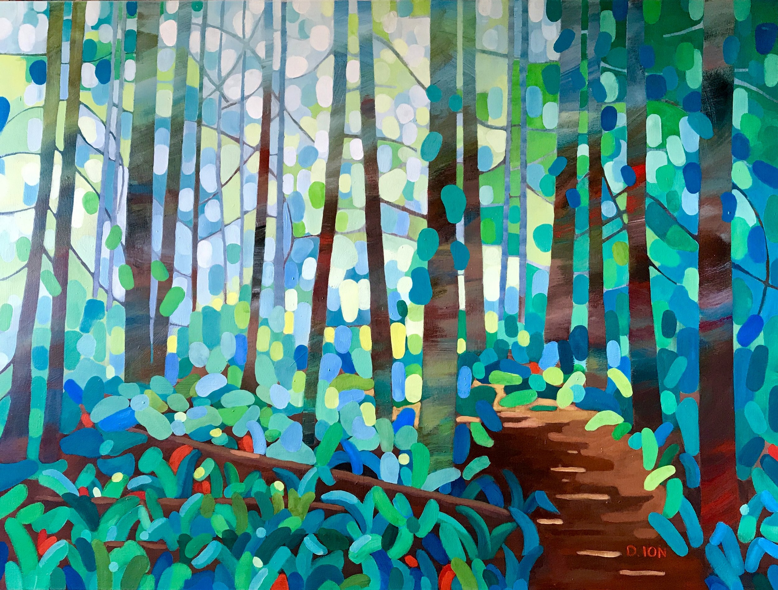 Forest Path 30x40 in.